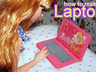 How to make a doll laptop notebook computer for Barbie, Monster High, Frozen.