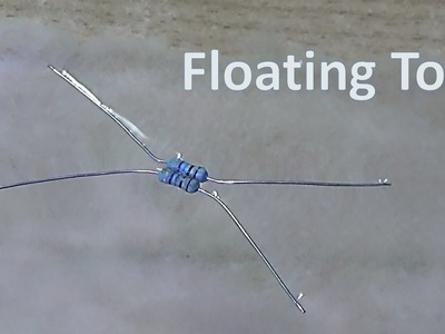 How to make a floating toy which uses water surface tension to float like water strider insect