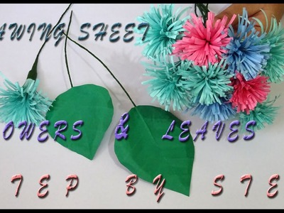 How to make a flower with drawing sheets. step by step