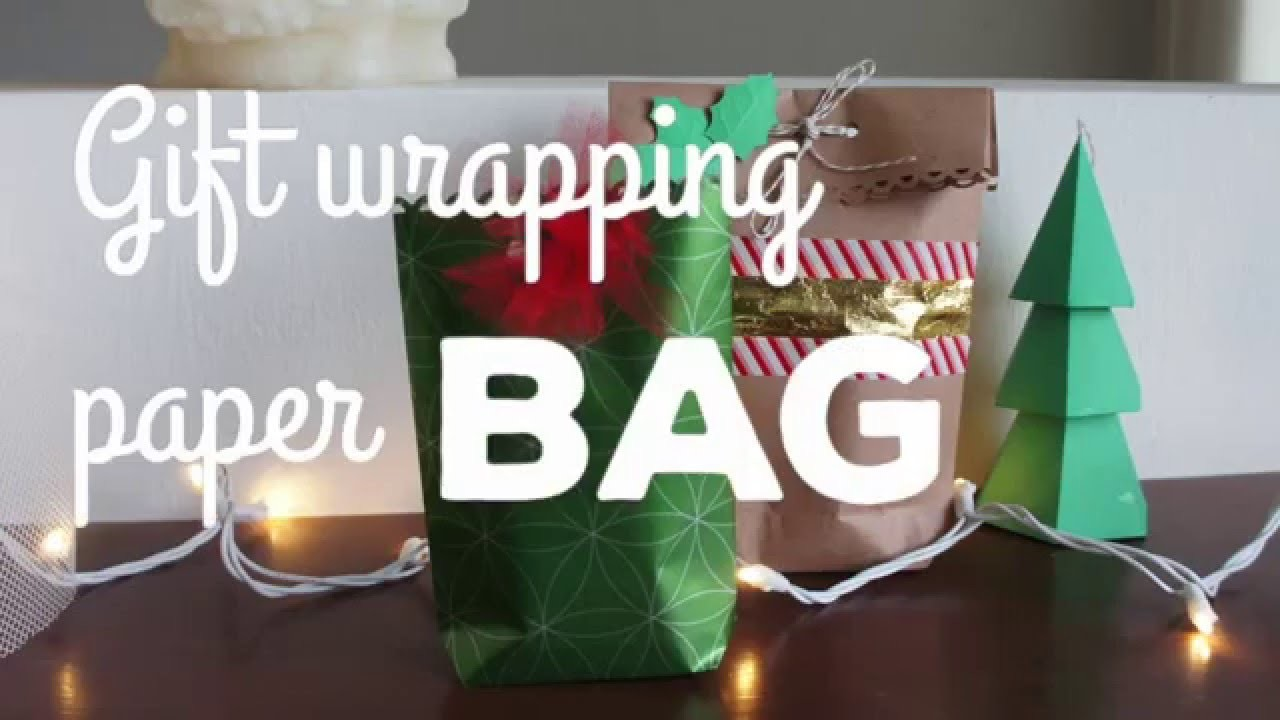 How to: Make a gift bag with wrapping paper