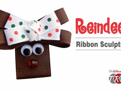 How to Make a Reindeer Ribbon Sculpture - TheRibbonRetreat.com