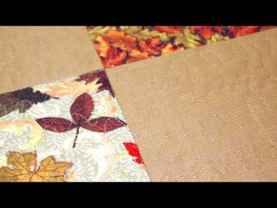 How to Make a Self Binding Placemat for the Holidays