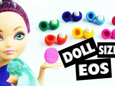 How to make an easy Miniature doll EOS lip balm - Easy Doll Crafts
