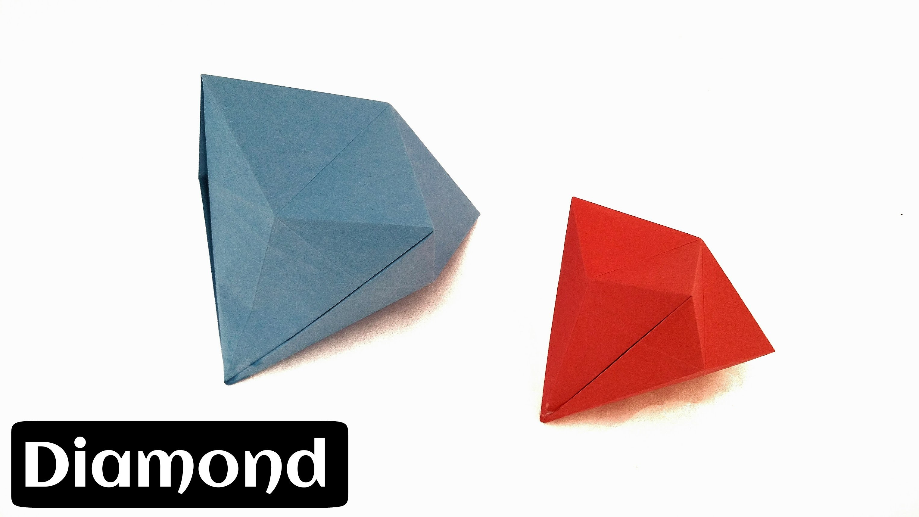 "How to make an Easy Paper ""Diamond"" (Diwali. Christmas. Eid Decoration) - Origami"