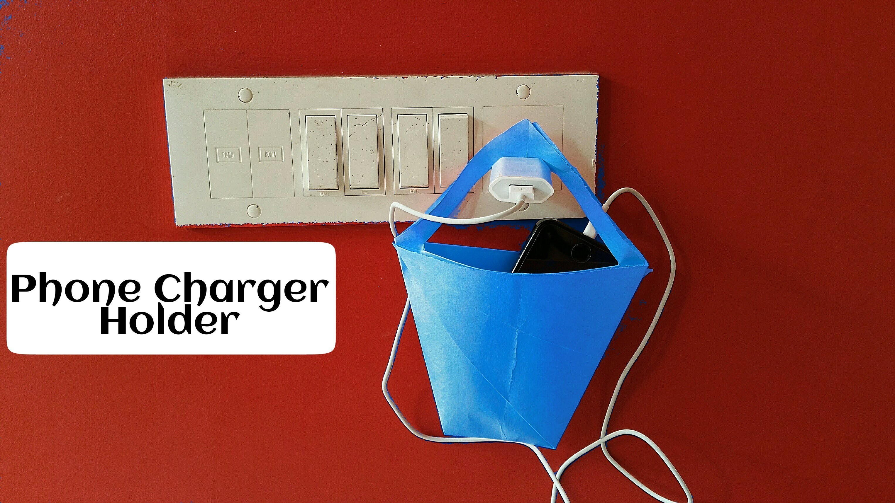 "How to make an  Paper - ""Phone Charger Holder"" - Useful Origami"