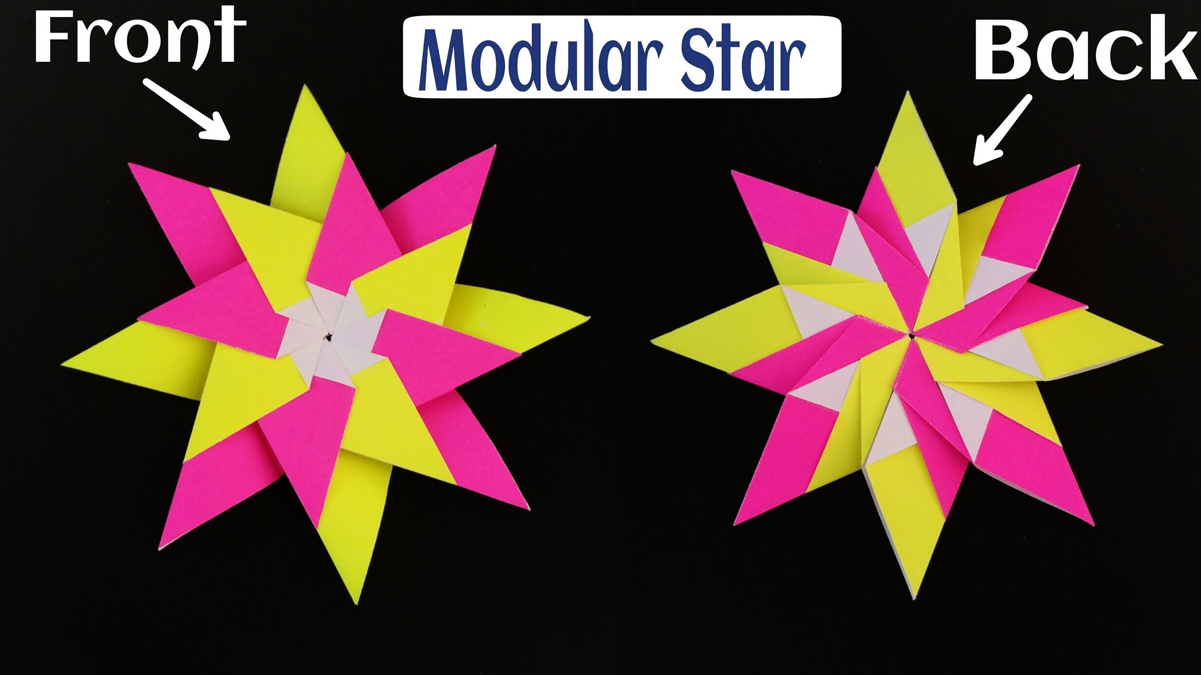 "How to make Beautiful Easy and Simple Paper""Modular Star""(Diwali.Christmas.Eid decoration)- Origami"