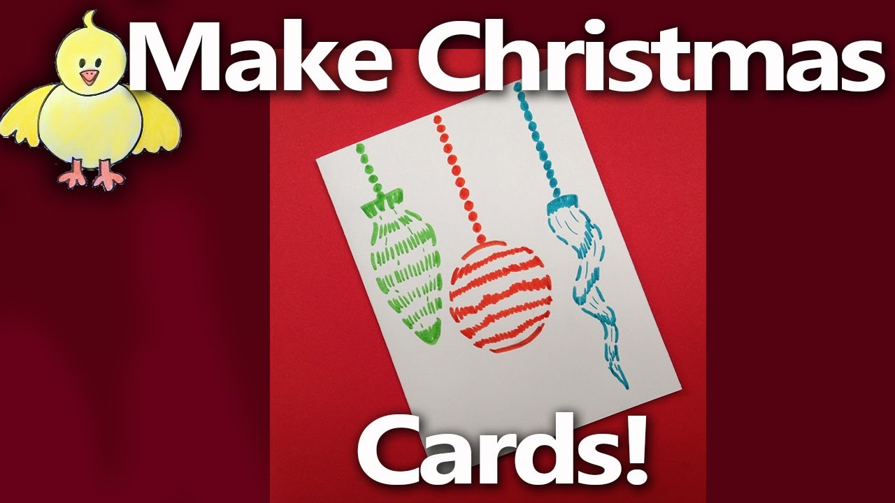 How to Make Easy Christmas Cards - Glass Ornament - From LiveStream #2