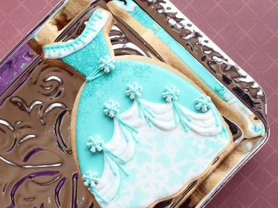How to make Elsa's dress cookie - Snow princess cookies