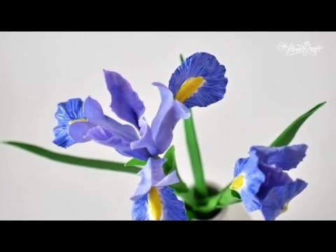 How to make Iris flower out of air dry clay - Tutorial part 2