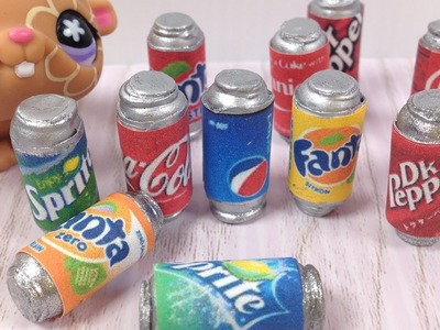 How to make LPS & Doll mini Soda cans: Coca Cola etc