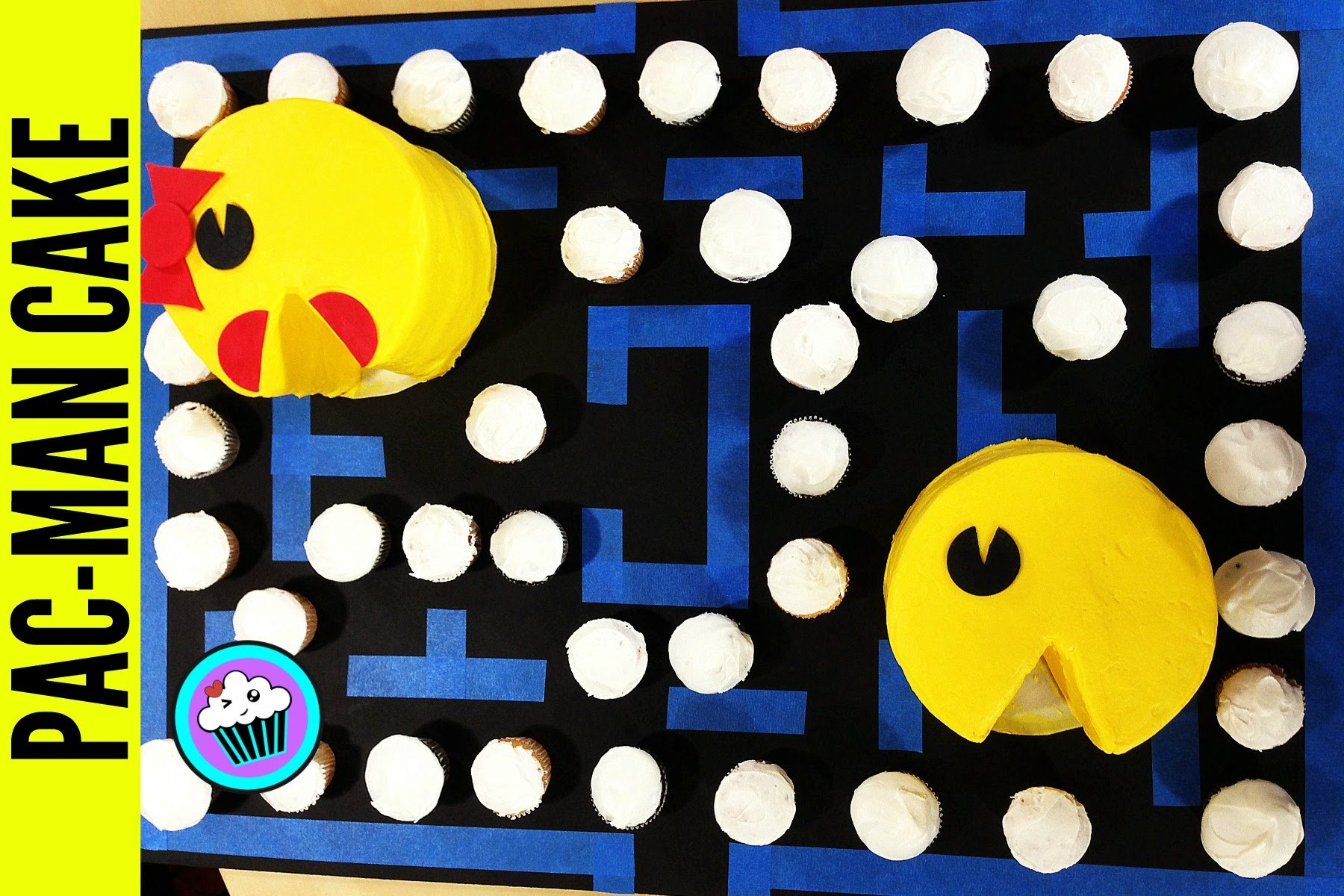 How to make Pac-Man & Mrs. Pac-Man Cakes | Pinch of Luck