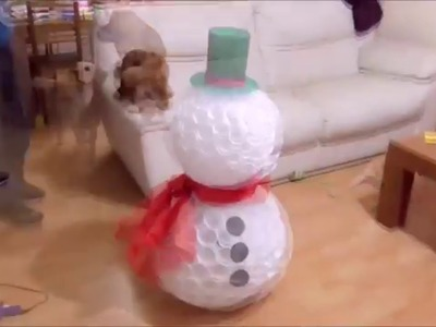 How to Make Snowman Using Plastic Cups