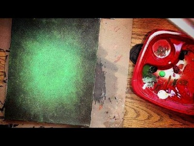How to Paint a VIBRANT GREEN BACKGROUND