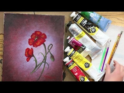 "How to Paint POPPIES - Lesson #1 of ""How to Paint Flowers"" (Series)"