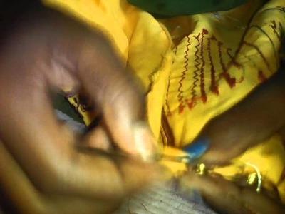 How to put saree kuchu with krosha