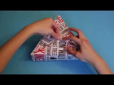 How to wrap a triangular box