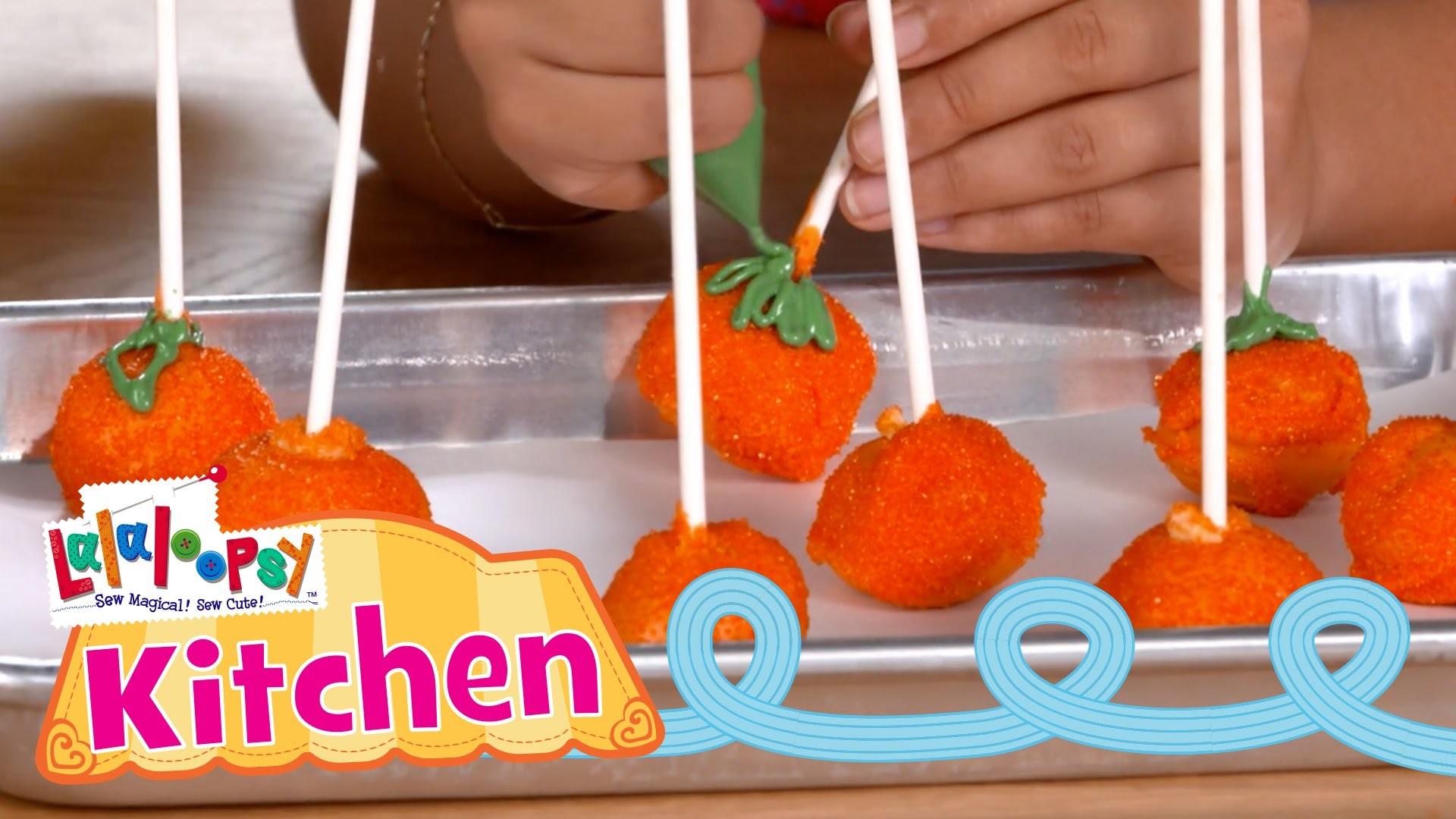 Lalaloopsy Kitchen: How to Make Pumpkin Cake Pops | Episode 10 | Lalaloopsy