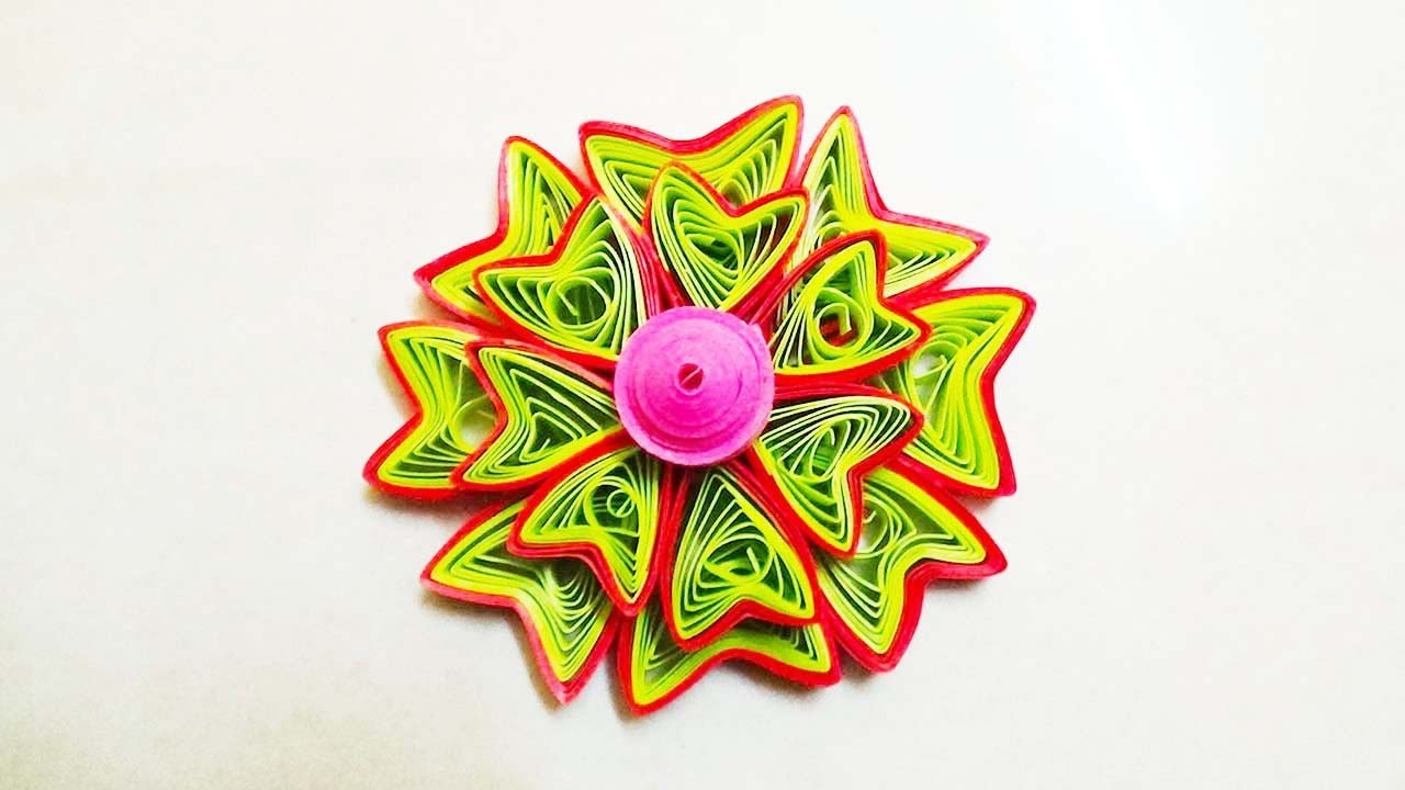 Paper Quilling: How To Make Beautiful 3Dquilling  Flower Using Paper Quilling art
