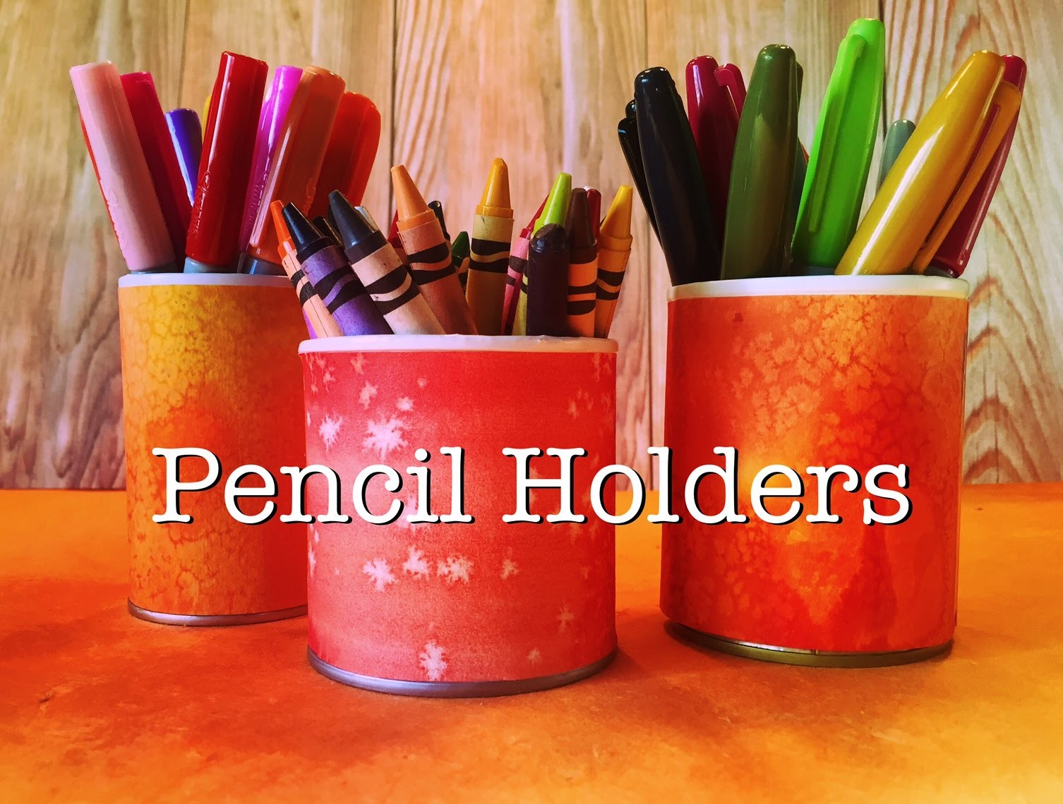 Upcycle Project | How to Make Pencil Holders from Tin Cans