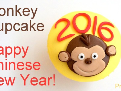 Chinese New Year 2016 Cupcakes - Monkey Cupcake How to by Pink Cake Princess