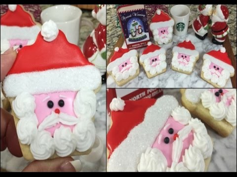 Christmas Santa Cupcake Cookie(How To)