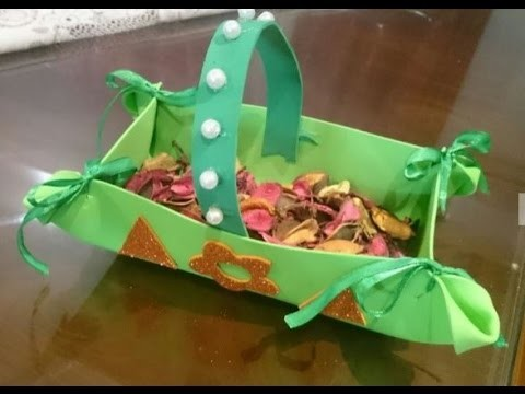 Creative Ideas : How to Make a Foam Basket | How to Make a Foam Basket  + Tutorial .