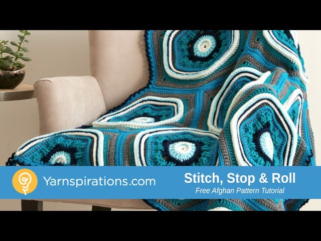 Crochet Stitch, Stop & Roll Afghan Tutorial