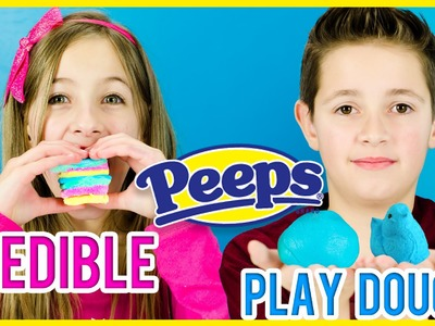 EDIBLE PEEPS PLAY DOUGH! PINTEREST DIY RECIPE TEST! HOW TO MAKE EDIBLE PLAY-DOH WITH PEEPS