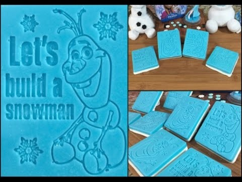 FROZEN Olaf Candy Bars Wilton Mold(How To)