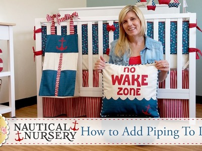 How to Add Piping to a Pillow | with Jennifer Bosworth of Shabby Fabrics