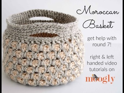How to Crochet: Moroccan Basket (Left Handed)