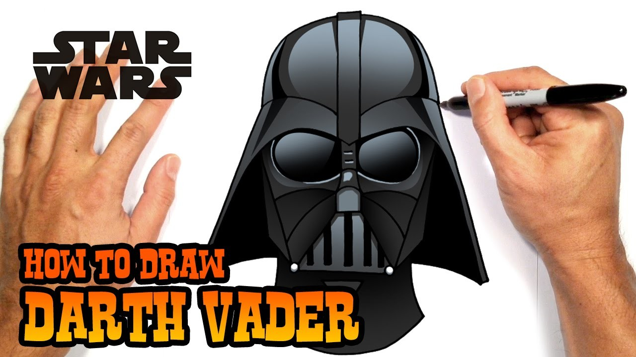 How to Draw Darth Vader (Star Wars)- Easy Art Lesson