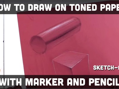 How to draw on toned paper with markers and pencils