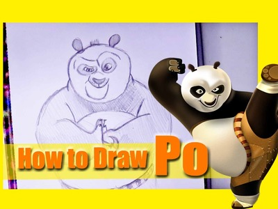 How to Draw Po from KUNG FU PANDA - @dramaticparrot