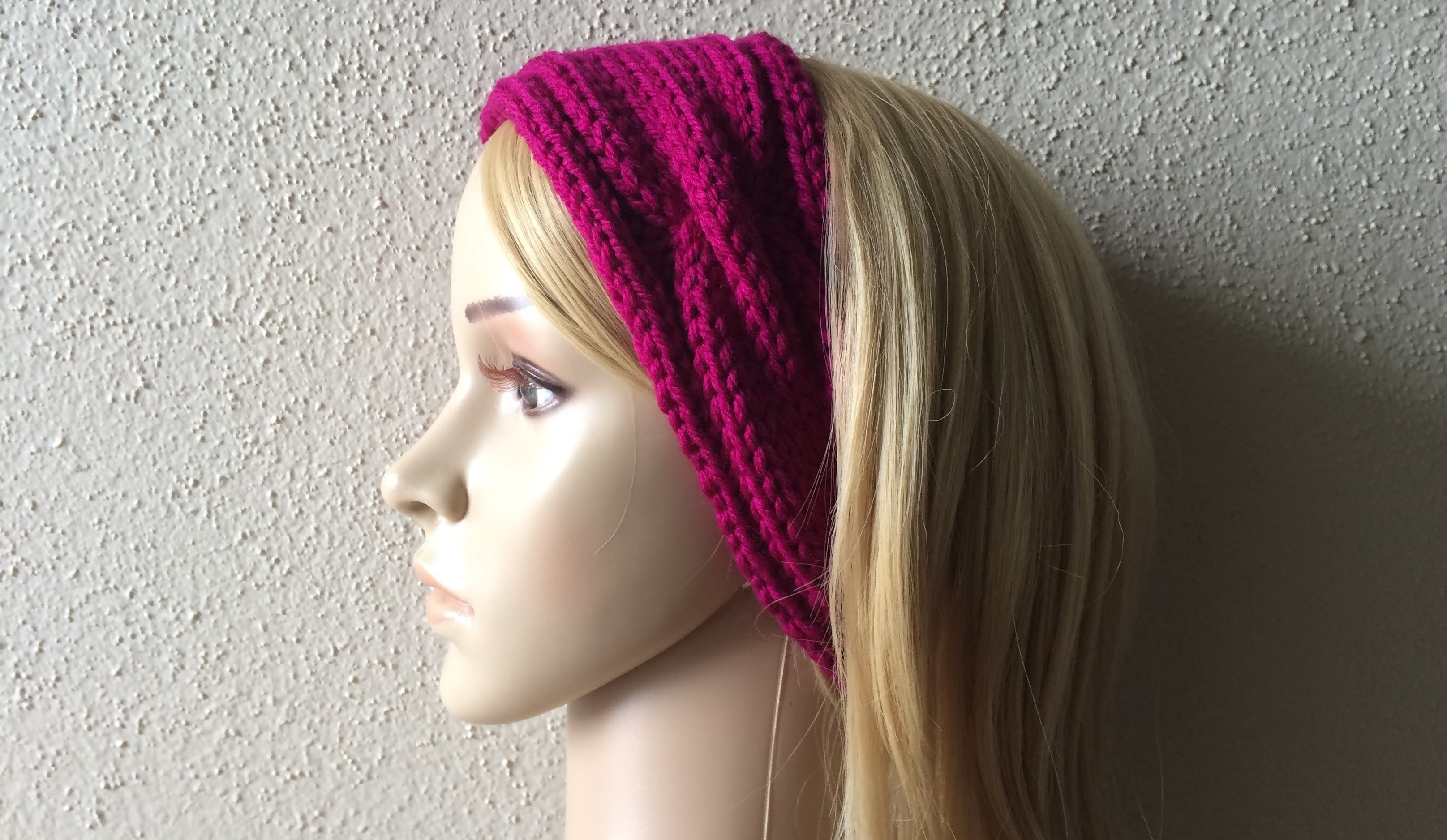 How To Knit A Chain Link Headband, Lilu's Knitting Corner Video # 51