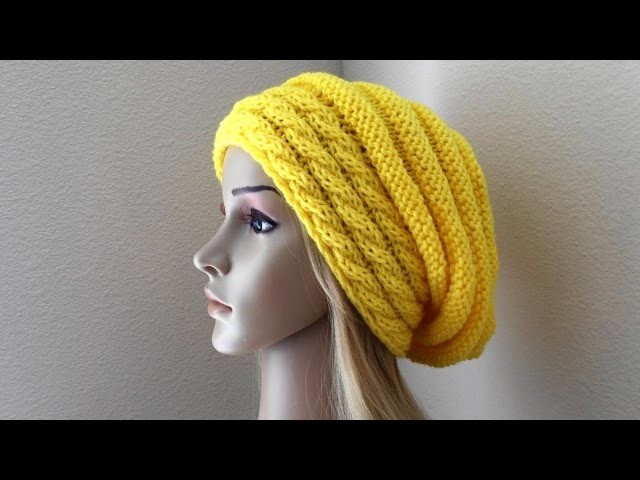 How To Knit A Slouchy Cable Beehive, Lilu's Knitting Corner Video # 60