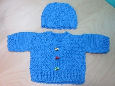 How to Knit newborne baby sweater part #2. With Ruby Stedman