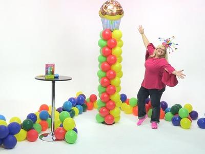 How To Make a Balloon Tower- Zipper Pattern