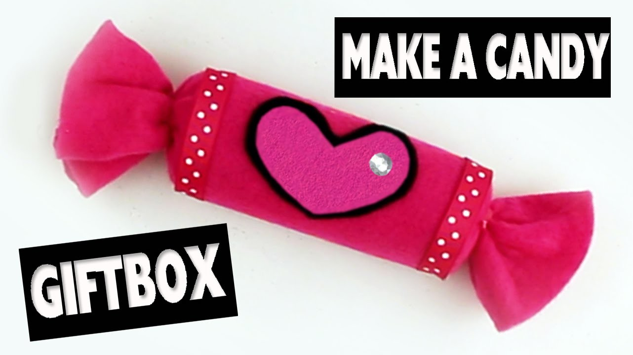 How to make a Candy GiftBox - Easy Crafts