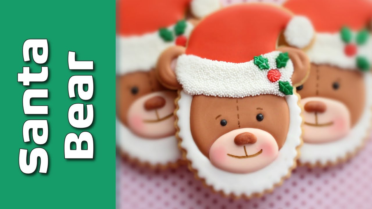 How to make a Santa Teddy Cookie - Cute Christmas cookies