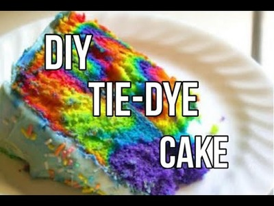 How To Make A Tie-Dye Cake!