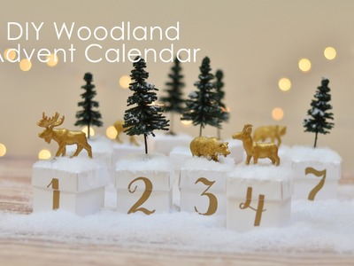 How-to make a woodland advent calendar