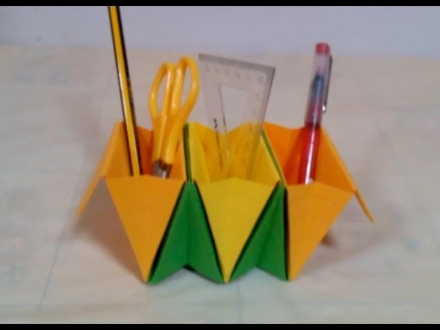 How to Make an Origami Basket Organizer   How to Make an Origami Basket Organizer - DIY + Tutorial .