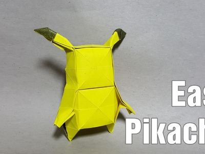 How to make an origami Pokemon - origami Pikachu easy (Henry Phạm)