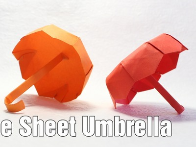How to make an origami Umbrella 4.0 (one sheet) (Henry Phạm)