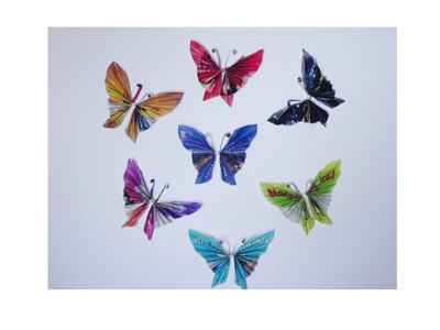 How to make paper butterflies with magazines - super easy
