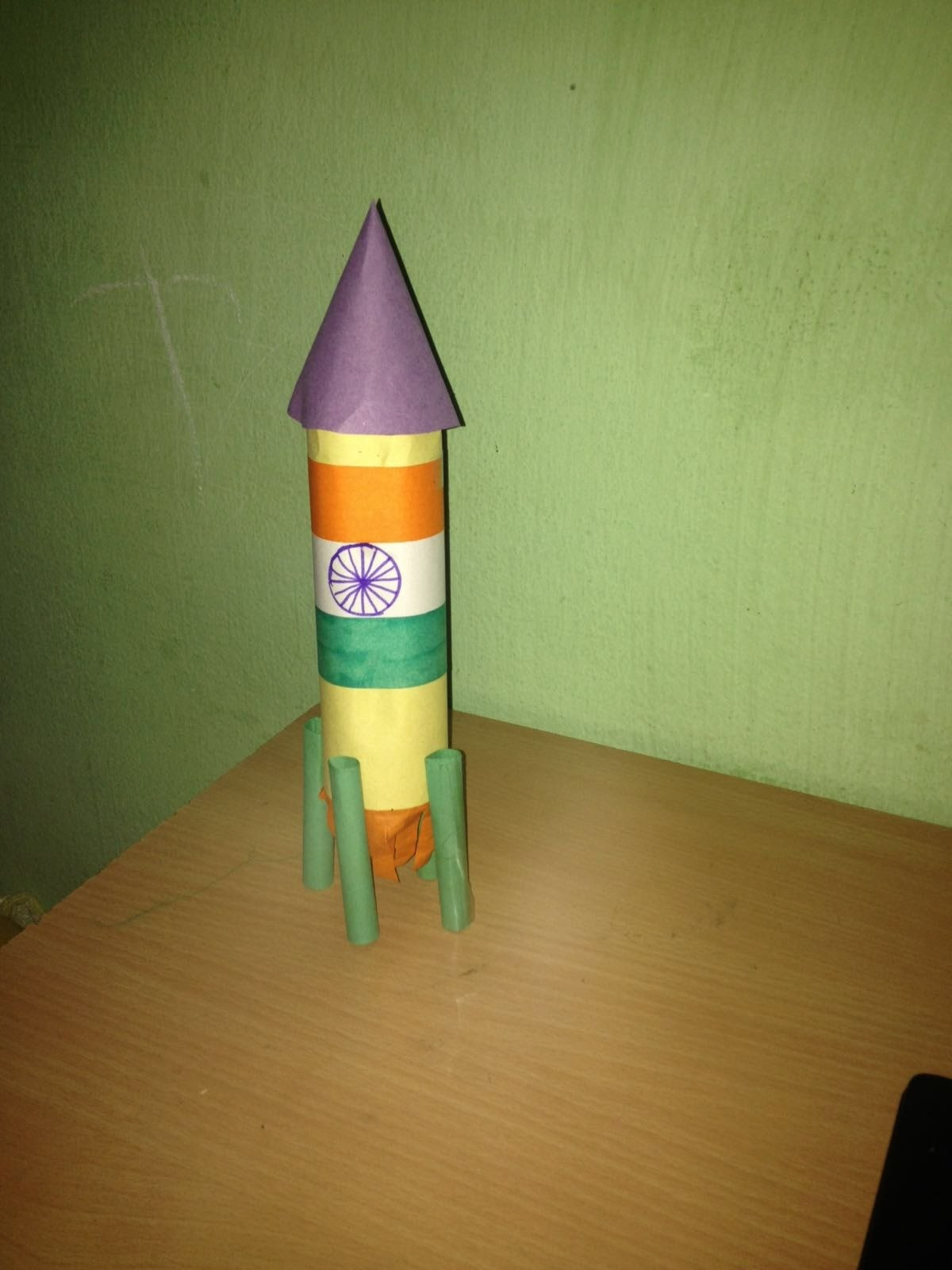 How to make paper Rocket for kids? Indian flag Craft