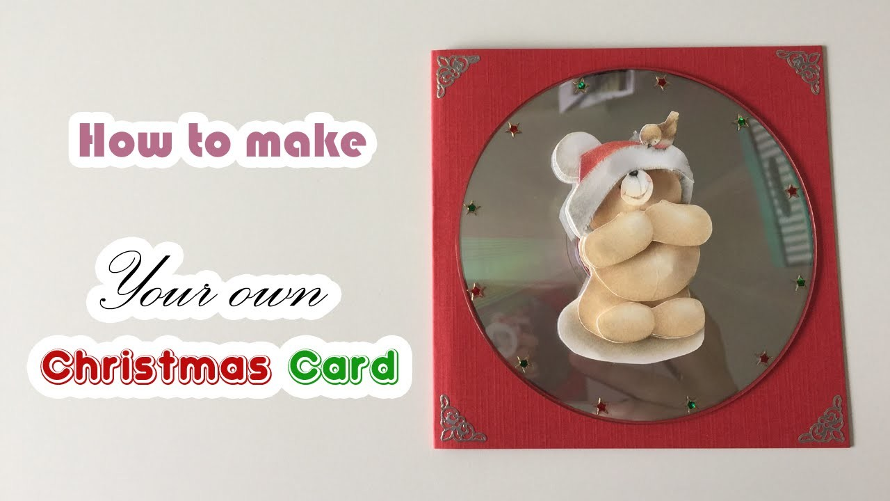 How to make your own  Christmas card (with old cd's)