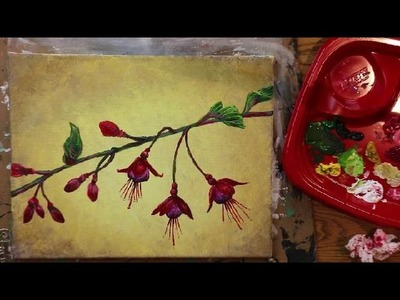 "How to Paint FUCHSIA Flowers - Lesson #5 of ""How to Paint Flowers"" (Series)"