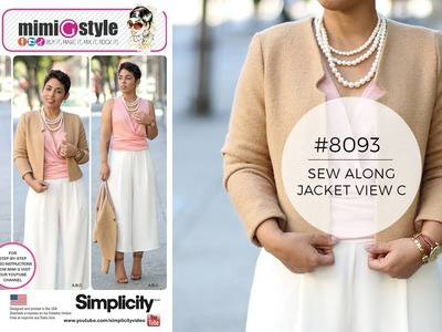 How to Sew a Jacket with Mimi G Simplicity 8093 (View C)